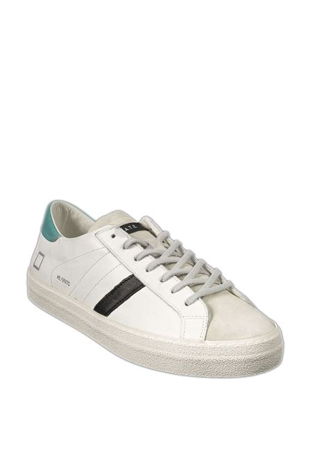 Sneaker hill low calf bianco/azzurro D.A.T.E | Sneakers | HILL LOW UCALF-WHI/WATER