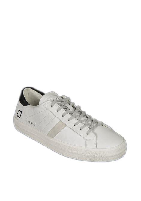 Sneaker hill low calf bianco/nero D.A.T.E. | Sneakers | HILL LOW UCALF-WHITE/BLACK
