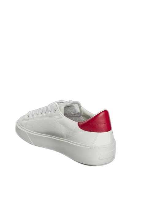 Sneaker levante calf  bianco/rosso D.A.T.E | Sneakers | LEVANTECALF-WHI/RED