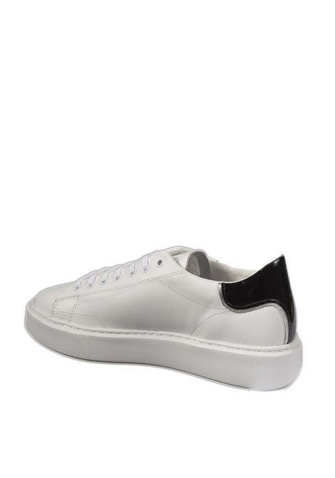 Sneaker sfera calf  bianco/nero D.A.T.E | Sneakers | SFERACALF-WHI/BLACK