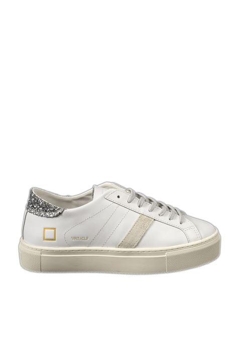Sneaker vertigo calf bianco/silver D.A.T.E | Sneakers | VERTIGOCALF-WHI/SILVER