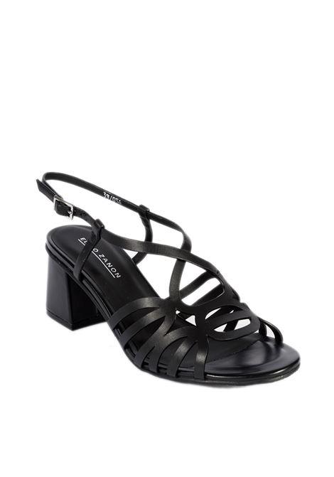 Sandalo deco nero ELVIO ZANON | Sandali | 2303PARMA-NERO