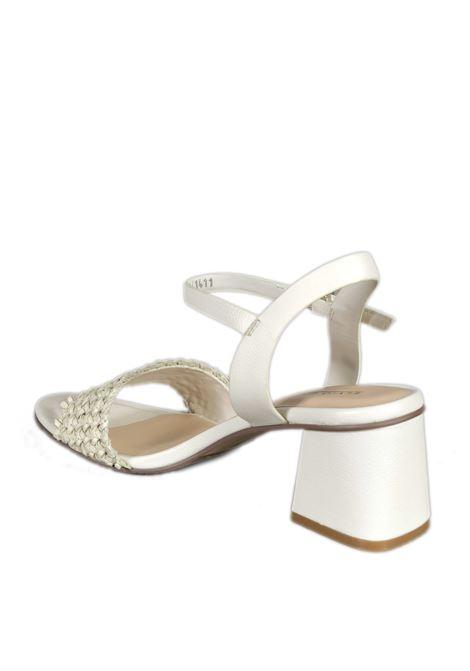 Sandalo tan lea bianco ELVIO ZANON | Sandali | 2308INTRECCIO-CAMELIA