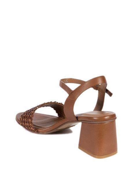 Sandalo tan lea cuoio ELVIO ZANON | Sandali | 2308INTRECCIO-CUOIO