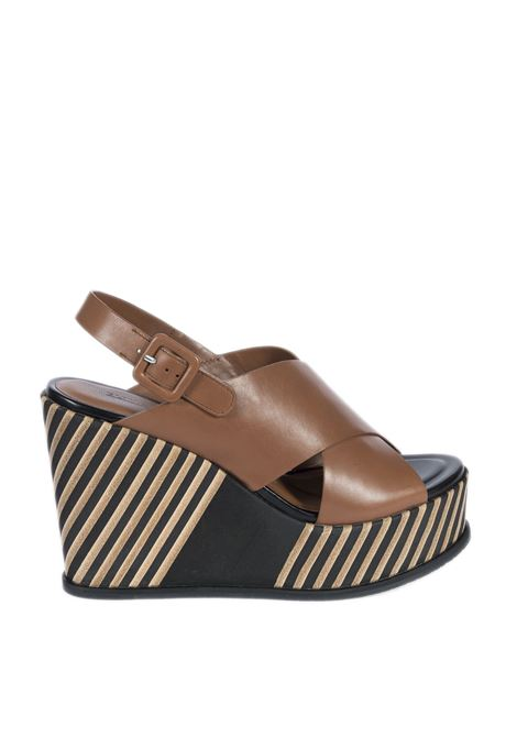 Sandalo strip dalia cuoio ELVIO ZANON | Sandali | 4401PARMA-CUOIO