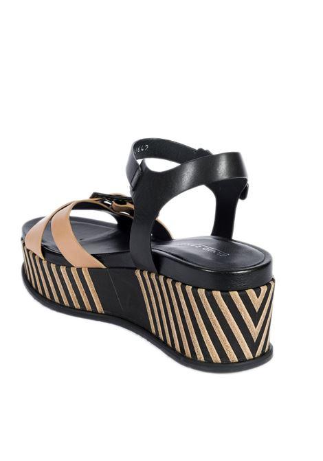 Sandalo pan meze nude/nero ELVIO ZANON | Sandali | 4501PARMA-NUDE/NERO