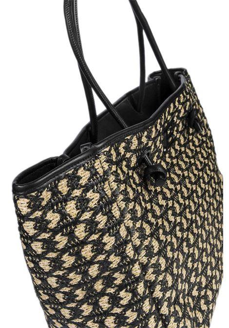 Shopping jasmin beige/nero ERMANNO SCERVINO | Borse a spalla | 163JASMIN-293