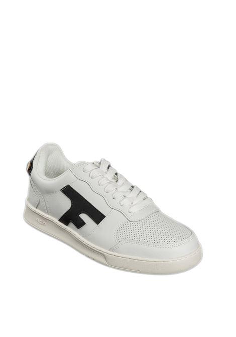 Sneaker hazel bianco/nero FAGUO | Sneakers | CG0301LEATHER-WHI35