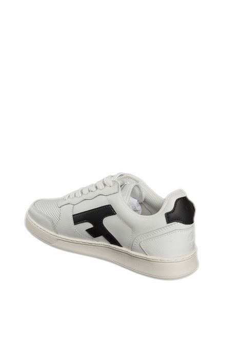 Sneaker hazel bianco/nero FAGUO | Sneakers | CG0301LEATHER-WHI35