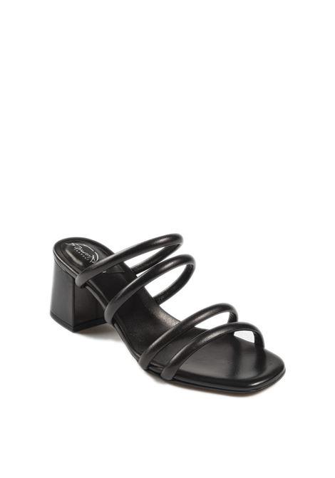 Sandalo fasce nero FRANCO RUSSO | Sandali | 2307NAPPA-NERO