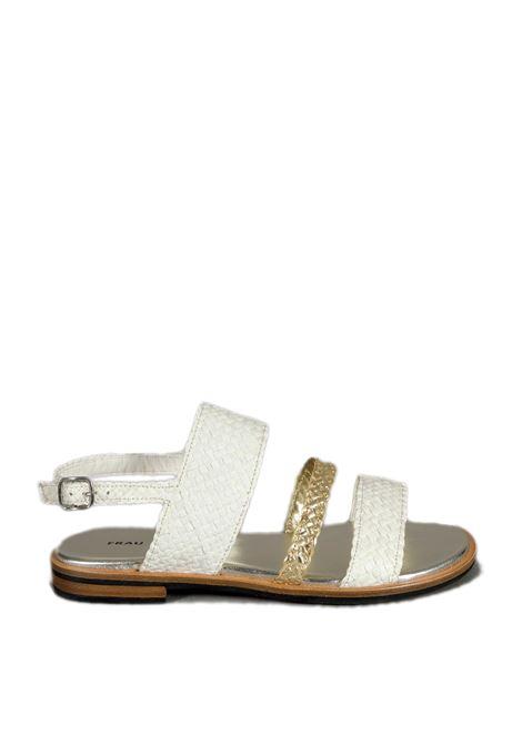 Sandalo venezia bianco/platino FRAU | Sandali flats | 8692VENEZIA-BURRO/PLATINO