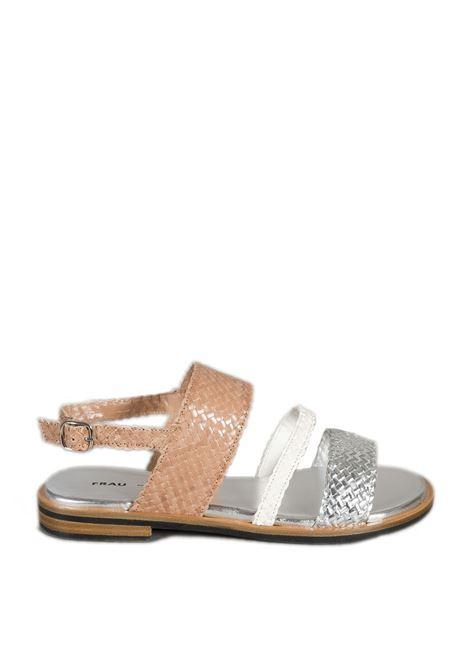 Sandalo venezia bianco/argento FRAU | Sandali flats | 8692VENEZIA-SILVER/BURRO