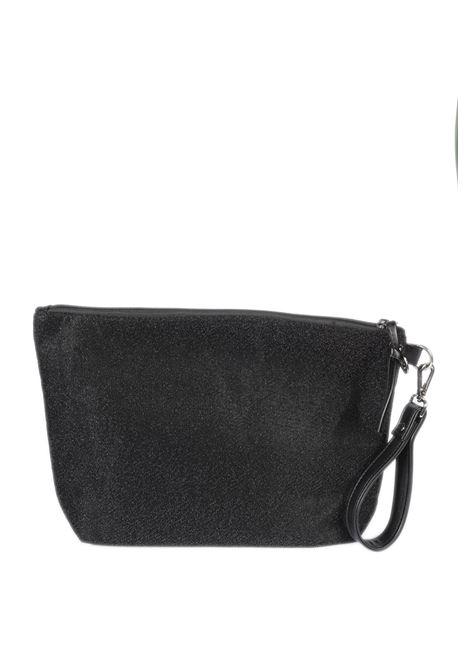 Pochette lurex nero GAELLE | Borse mini | 201CANVAS-NERO