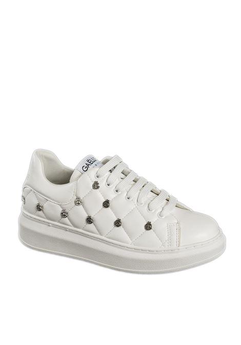 Sneaker matelassé bianco GAELLE | Sneakers | 2257PELLE-BIANCO