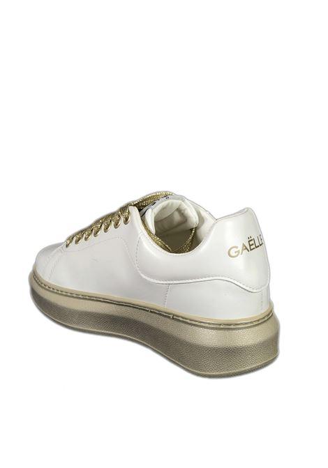 Sneaker bold bianco/oro GAELLE | Sneakers | 2290PELLE-GOLD