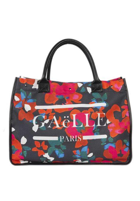 Shopping canvas fiori GAELLE | Borse a mano | 240CANVAS-NERO