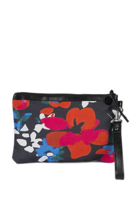 Pochette canvas fiori GAELLE | Borse mini | 241CANVAS-NERO