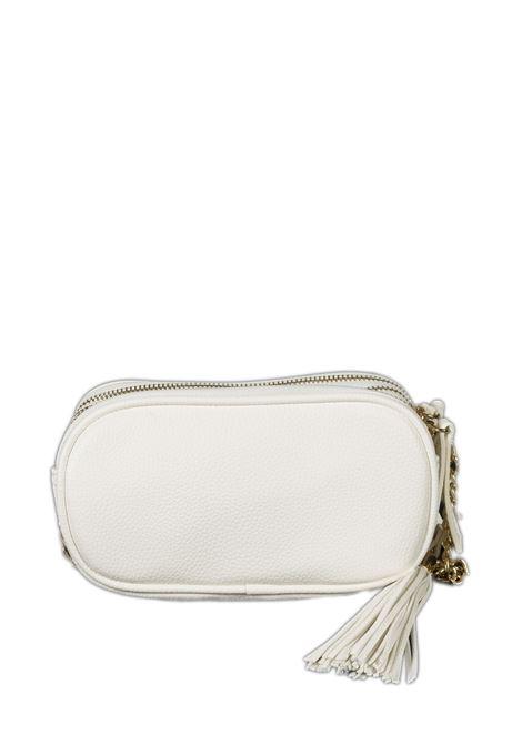 Tracolla zip strass bianco GAELLE | Borse mini | 2452PELLE-BIANCO