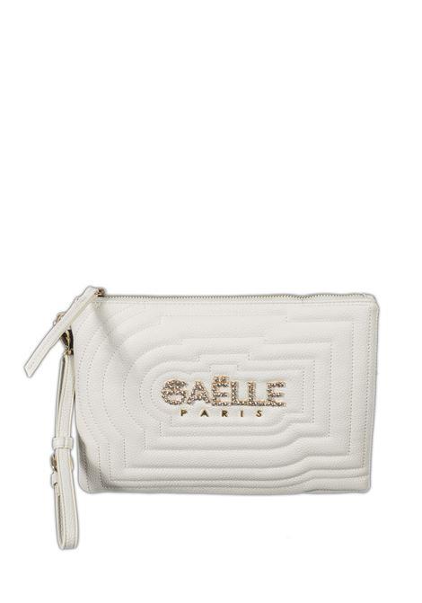 Pochette strass bianco GAELLE | Borse mini | 2457PELLE-BIANCO