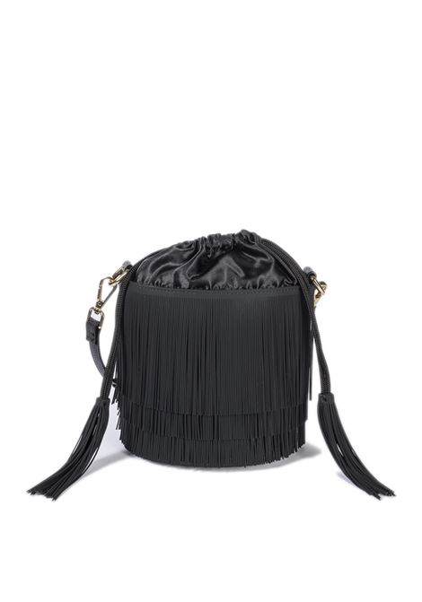 Secchiello fringe nero GIANNI CHIARINI GUM | Borse a spalla | BUCKETFRINGE-001