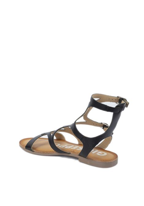 Sandalo Corning nero GIOSEPPO | Sandali flats | 58328CORNING-NERO