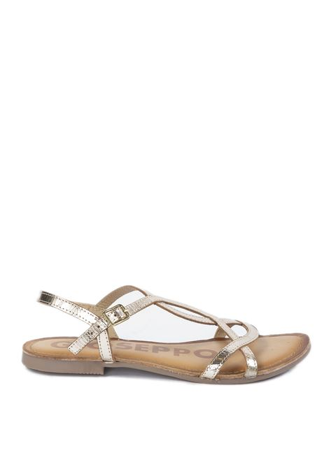 Sandalo navassa oro GIOSEPPO | Sandali flats | 59846NAVASSA-ORO