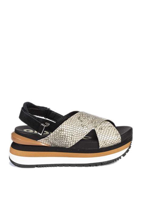 Sandalo grinnel grigio GIOSEPPO | Sandali flats | 62957GRINNEL-SERPENTE