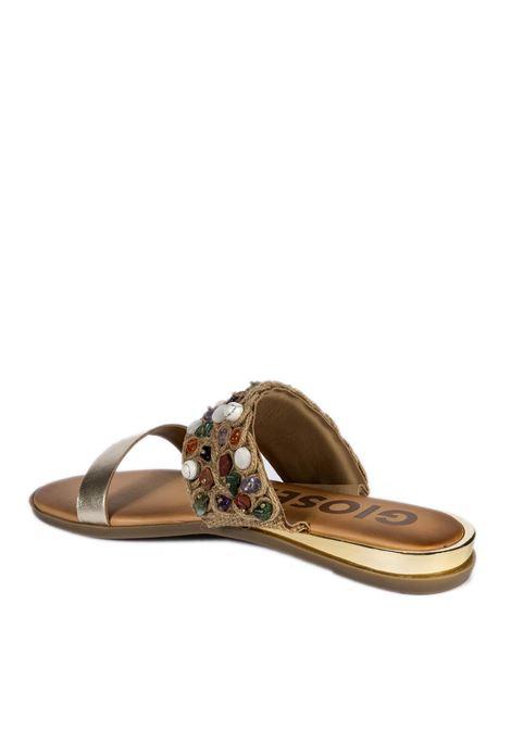 Sandalo frenda oro GIOSEPPO | Sandali flats | 63023FRENDA-ORO