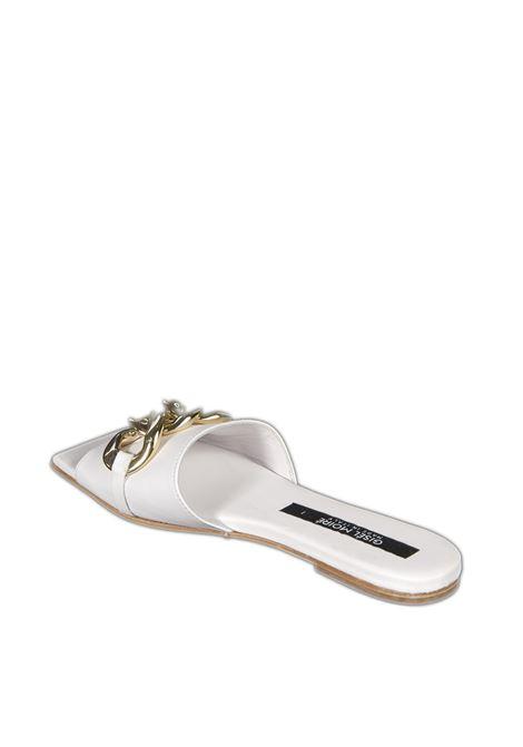 Sandalo amalfi bianco GISEL MOIRE | Sandali flats | AMALFIVIT-BIANCO