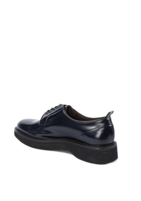 Derby polished blu/fondo gomma GREEN GEORGE | Stringate | 2022POLISHED-101