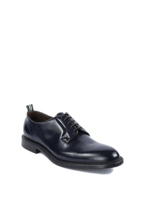 Derby polished blu/fondo cuoio GREEN GEORGE | Stringate | 3029POLISHED-101