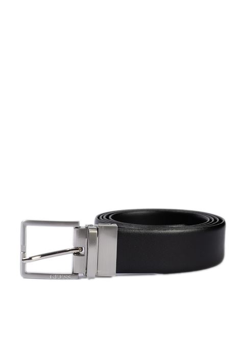 Cintura reversibile nero GUESS | Cinture | BM7319LEA35-BLA