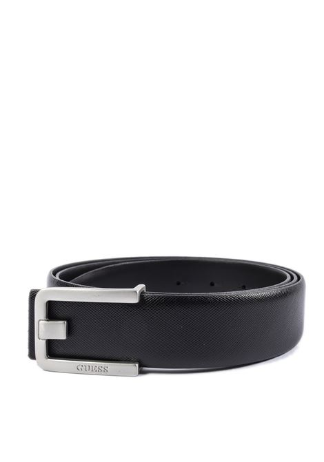 Cintura lea nero GUESS | Cinture | BM7354LEA35-BLA