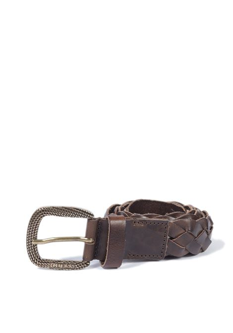 Cintura intreccio marrone GUESS | Cinture | BM7358LEA35-D.BROWN