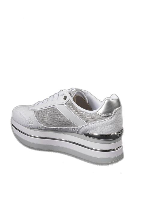 Sneaker platform bianco GUESS | Sneakers | FL5HNSHANSIN-WHITE/SILV