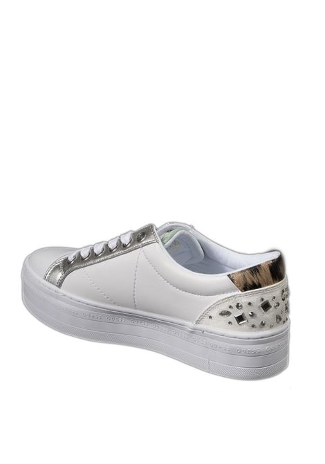 Sneaker active bianco/silver GUESS | Sneakers | FLY5B3ACTIVE-WHITE/SILV