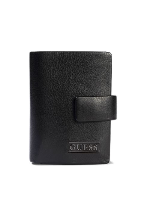 Porta carte new boston nero GUESS | Portafogli | NEWBNEW BOSTON-BLA