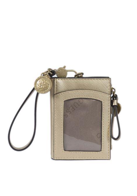 Portafoglio card case oro GUESS | Portafogli | RW7371CARD CASE-GOL