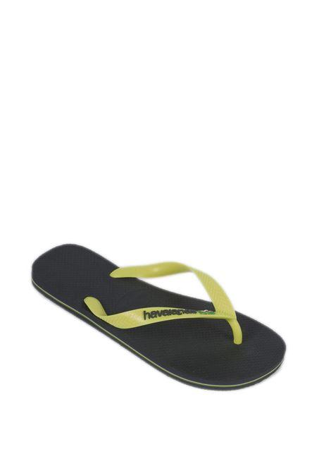 Infradito Brazil logo grigio HAVAIANAS | Sandali flats | 4110850BRASIL LOGO-0074