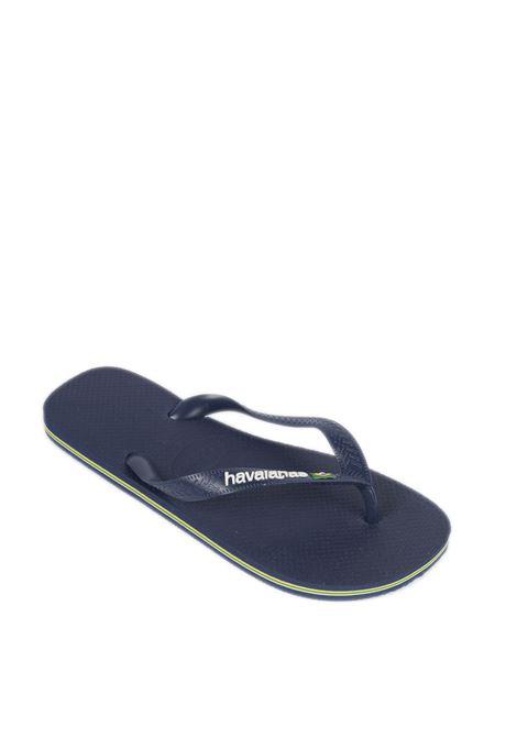 Infradito brasil logo blu HAVAIANAS | Sandali flats | 4110850BRASIL LOGO-0555