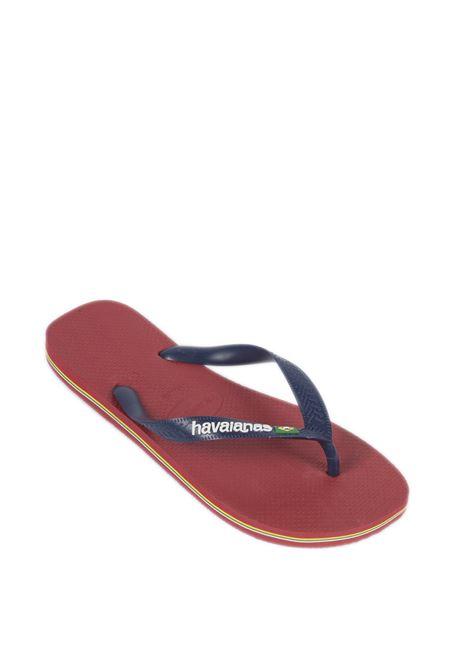 Infradito brazil logo rosso HAVAIANAS | Sandali flats | 4110850BRASIL LOGO-1440