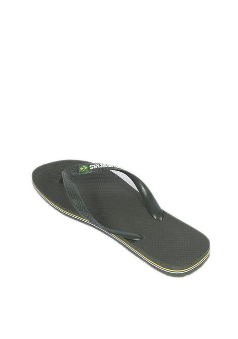 Infradito brazil logo verde HAVAIANAS | Sandali flats | 4110850BRASIL LOGO-4896