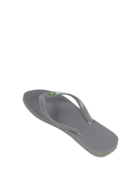 Infradito brazil logo grigio HAVAIANAS | Sandali flats | 4110850BRASIL LOGO-5002