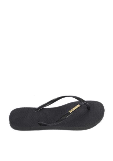 Sandalo slim logo nero HAVAIANAS | Sandali flats | 4119875SLIM LOGO-1924