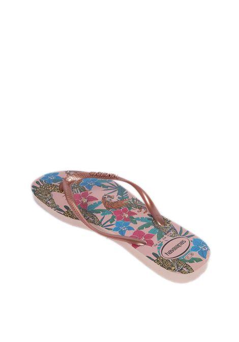 Infradito slim tropical rosa HAVAIANAS | Sandali flats | 4122111SLIM TROPICAL-5977