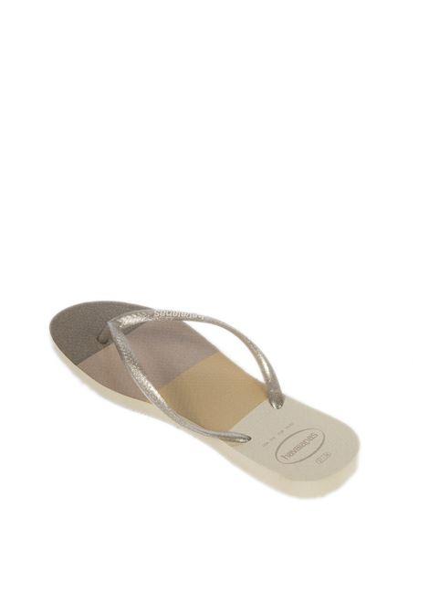 Infradito sil palette silver HAVAIANAS | Sandali flats | 4145766SLIM PALETTE-0154