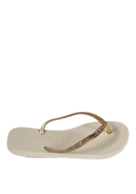 Infradito slim glitter beige HAVAIANAS | Sandali flats | 4146118SLIM GLITTER-0121