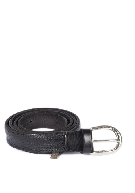 Cintura fori nero ITALIAN BELTS | Cinture | 502/30PELLE-NERO