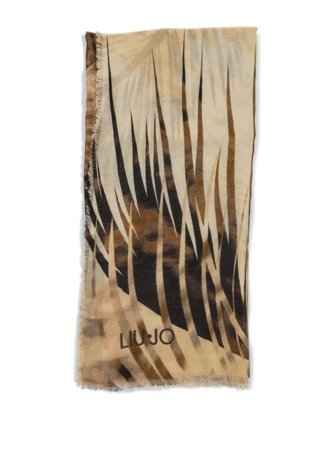 Foulard tropical cuoio LIU JO | Foulards | A1084T0300TROPICAL-71316