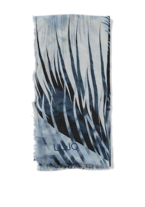 Foulard tropical blu LIU JO | Foulards | A1084T0300TROPICAL-X0355